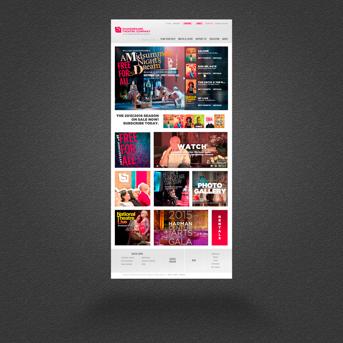 Website Redesign—shakespearetheatre.org